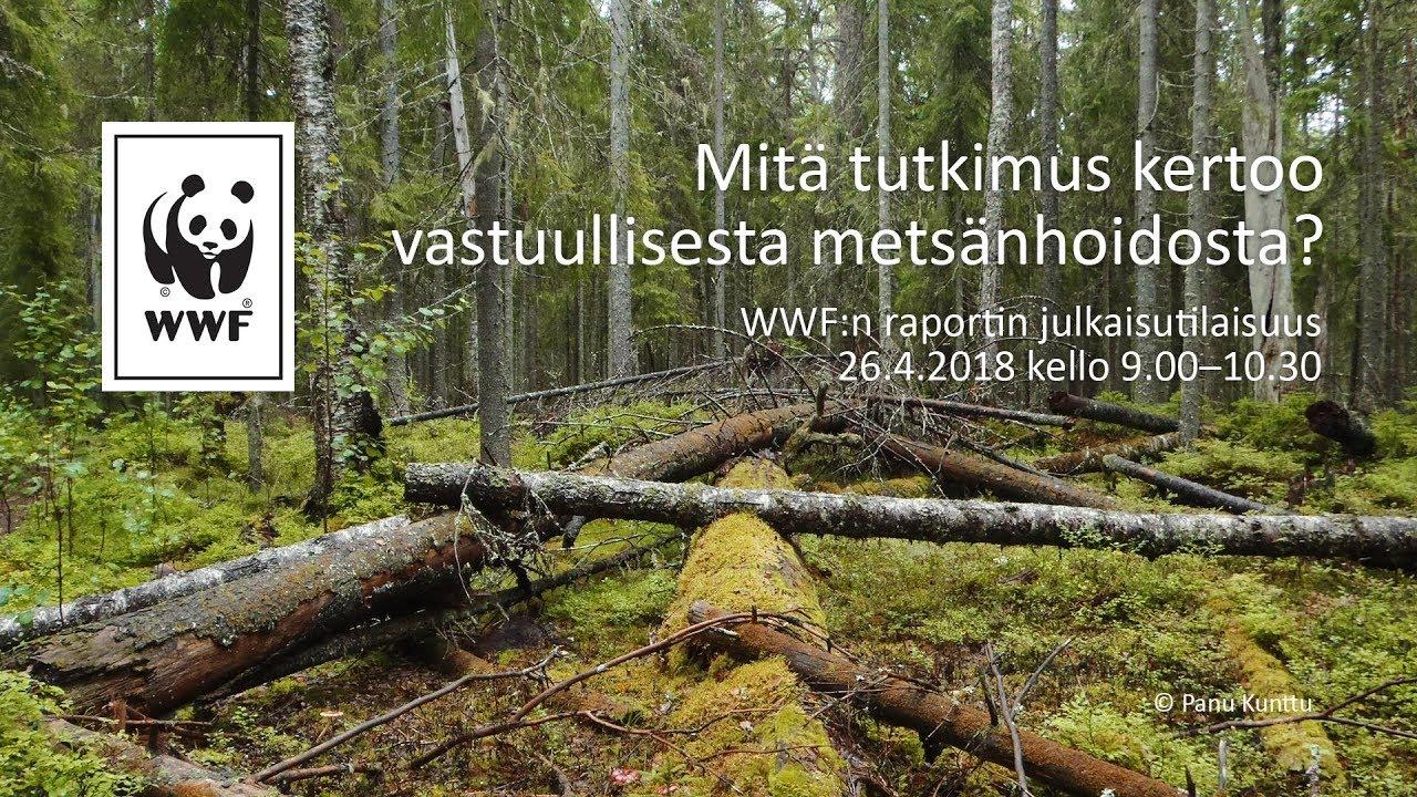 WWF:n raportin julkaisutilaisuus